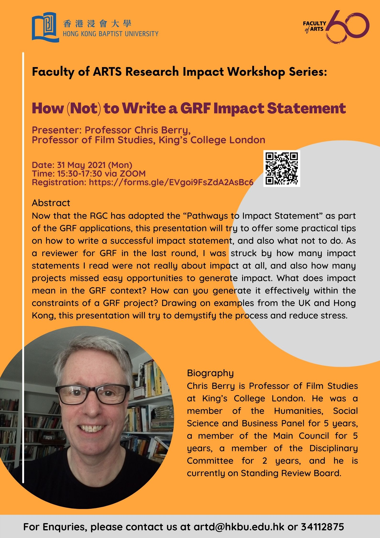 research impact prof. chris berry how not to write a grf impact statement